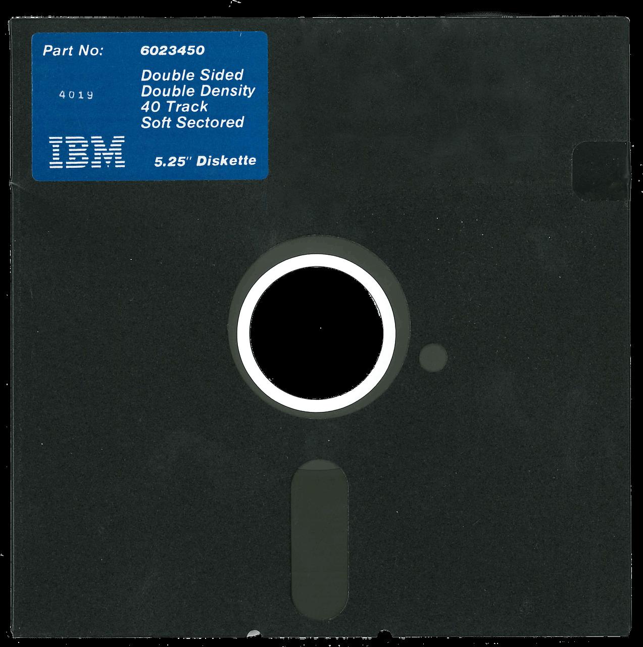 IBM-diskett till dator