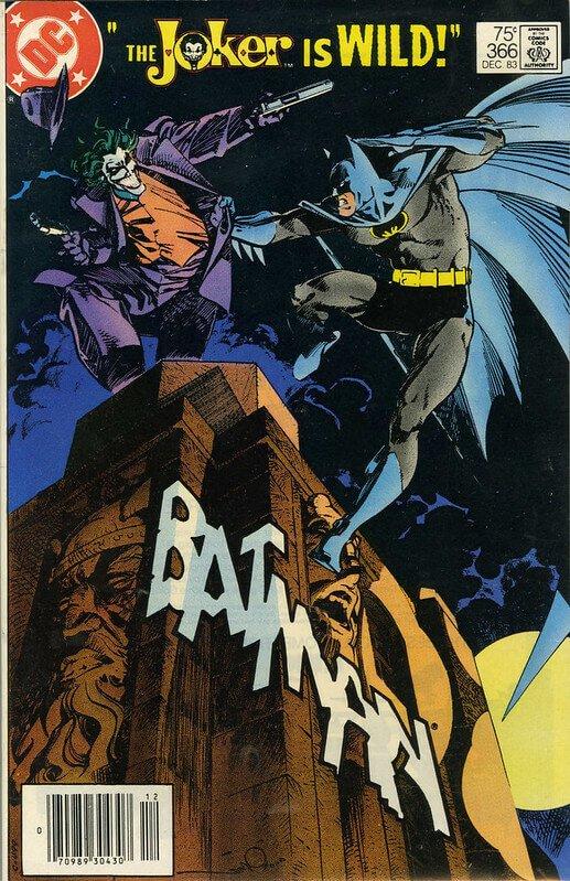 """Jokern och Batman på omslaget av en serietidning.""""Batman #366"""" (CC BY 2.0) av Marxchivist"""