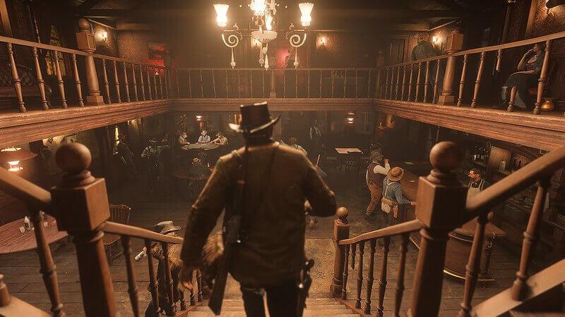 """Red Dead Redemption har flera salooner man kan utforska. """"Red-Dead-Redemption-2-210918-020"""" (Public Domain) av instacodez"""